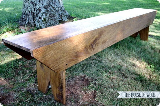 pottery barn inspired bench