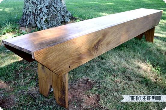 pottery barn inspired bench