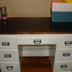 Paint and Stain Thrift Store Desk Makeover