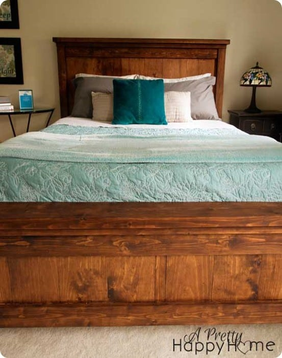 pottery barn inspired farmhouse bed