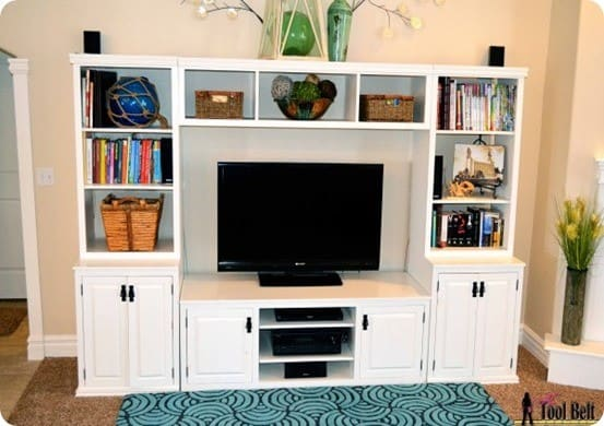 media center with hidden toy storage. Black Bedroom Furniture Sets. Home Design Ideas