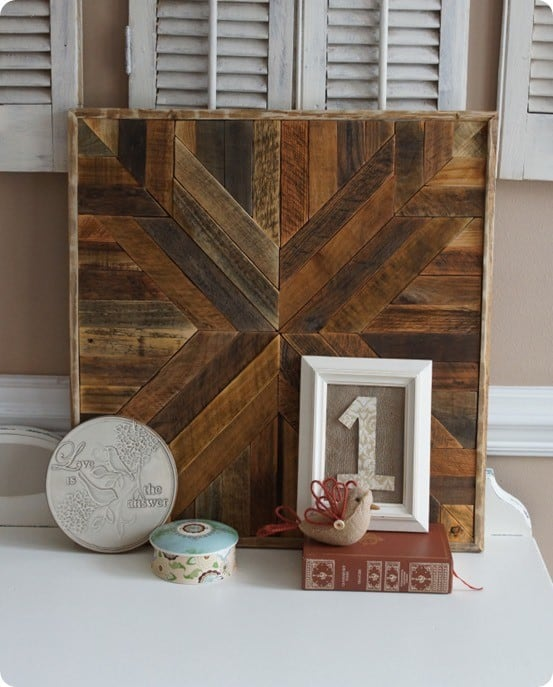 Wood Quilt Square Wall Art