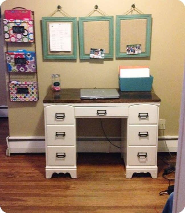 DIY desk all set up