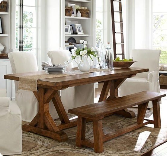 Fancy farmhouse dining table for Farmhouse dining room table set