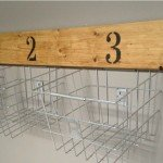 Wood and Wire Basket Wall Storage