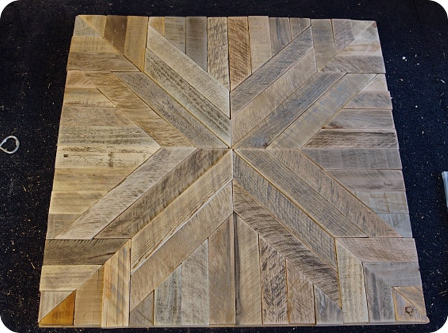 Wall art quilted wood