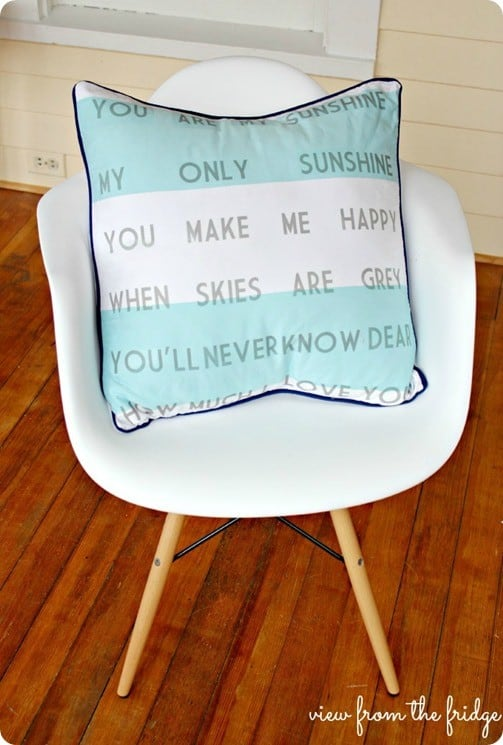 Good you are my sunshine pillow