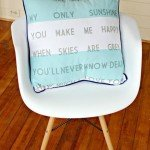 """You Are My Sunshine"" Pillow Cover – How to Get Letters On Fabric"