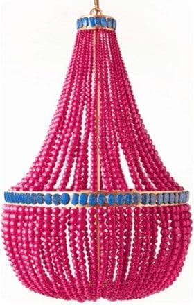 Annabelle pink jade empire chandelier