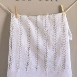 Feather Dishtowels for Fall