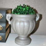 Chalk Paint Urn with Metallic Glaze