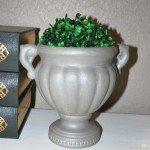 Chalk Paint Urn with Metallic Glaze