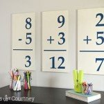 Pottery Barn Kids inspired flashcard wall art
