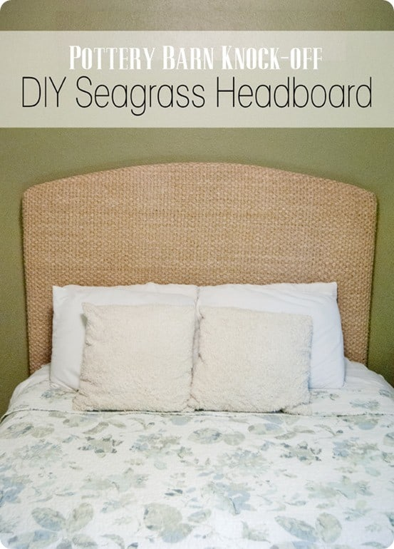 Turn A Seagrass Rug Into A Headboard Knockoffdecor Com
