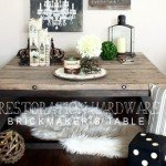 "Rustic Industrial Wood and ""Metal"" Coffee Table"