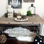 "Rustic Industrial Wood and ""Metal"" Coffee Table"