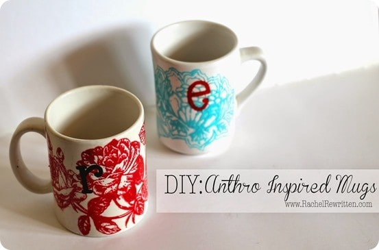 anthropologie inspired mug