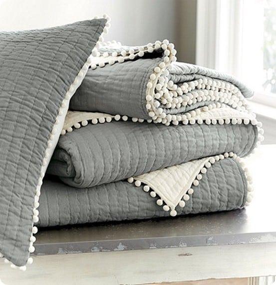 audrey pom pom quilt bedding