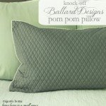 Quilted Pom Pom Pillow Cover