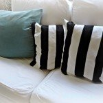 black and white stripe pillows