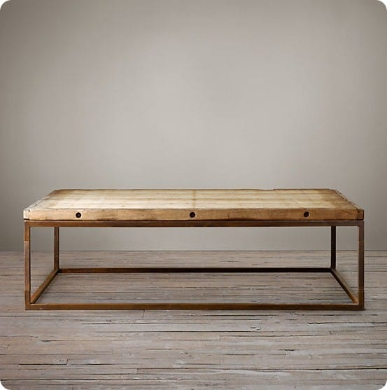 Came from the brickmaker s coffee table from restoration hardware