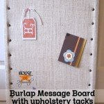 Burlap Message Board with Upholstery Tacks