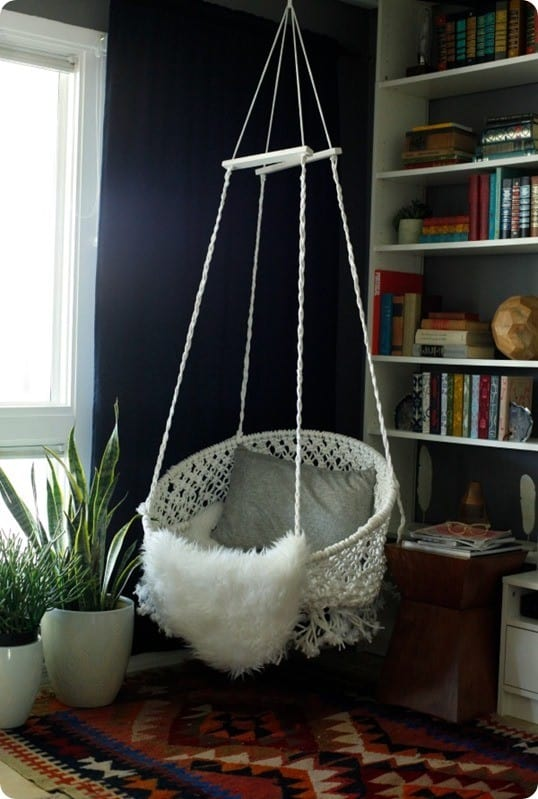 diy macrame hanging chair hanging macrame chair 4556