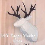diy paper mache deer