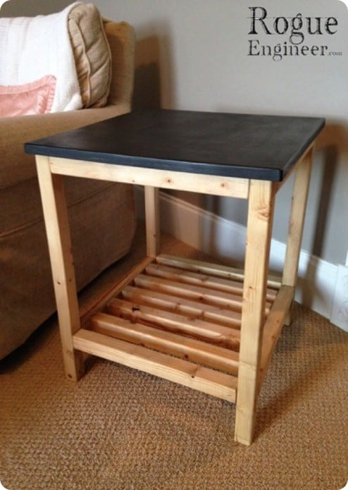 diy pottery barn inspired end table