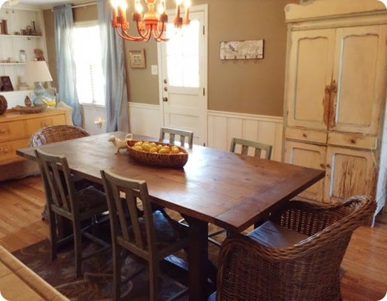 Diy X Support Dining Room Table