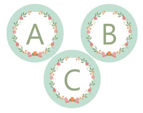 picture relating to Free Printable Letters for Banners called Floral Get together Banner Printable -