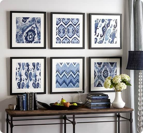 Prints For Wall Decor : Framed fabric makes for cheap wall art