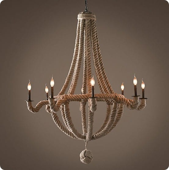 french empire rope chandelier