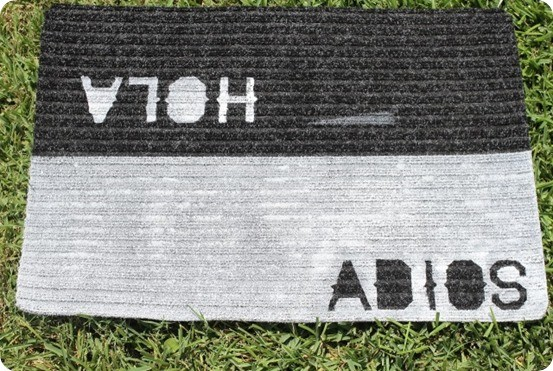 hola and adios painted doormat
