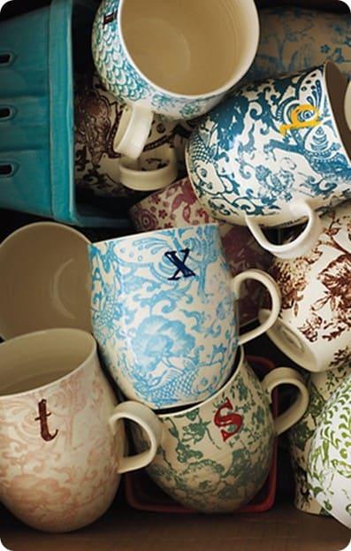 homegrown monogram mug