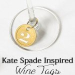 Numbered Gold Wine Charms