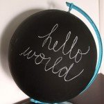 DIY Chalkboard Globe for $1.25