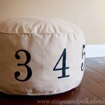 Sew Your Own Numbers Pouf