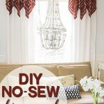 No-Sew Diamond Accent Curtains