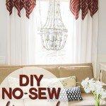 No-Sew Diamond Accent Curtains