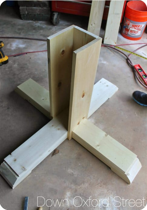 Octagon table base