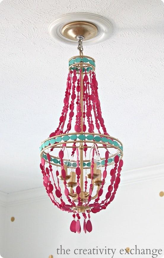 painted bead chandelier
