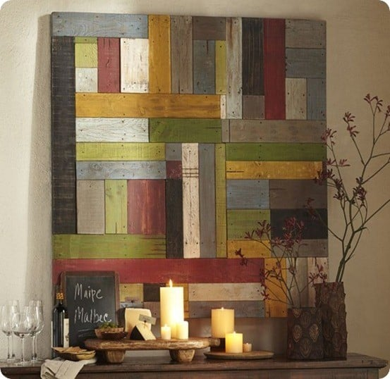 Wood Plank Wall Art Goes Modern