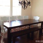 Large and Rugged Parson's Dining Table