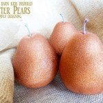 Easy Glitter Pears for a Sparkly Fall