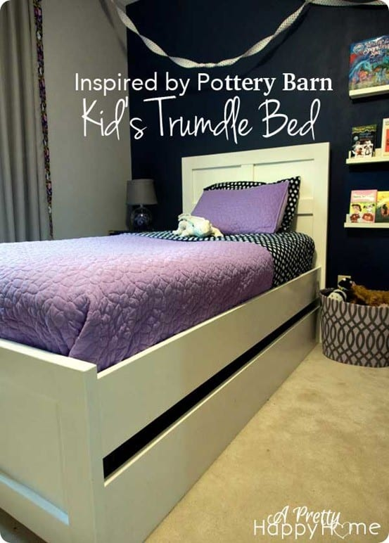 pottery barn kids inspired trundle bed