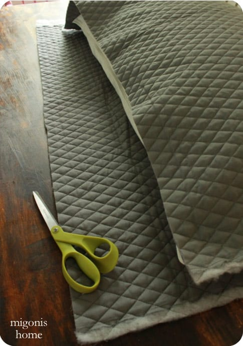 Quilted fabric for pillow