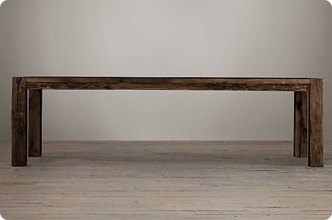 reclaimed parsons dining table