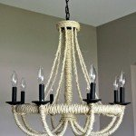 Rope Wrapped Chandelier Makeover
