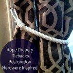"""Rustic Yet Modern"" Rope Curtain Tiebacks"